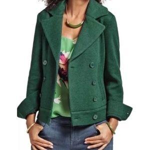 CAbi Love Carol Green Pea Coat Jacket Blazer XXS